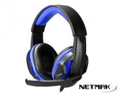 AURICULAR GAMER CON MICROFONO PS4 INFINITY LUCES LED NETMAK