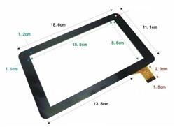 REPUESTO PANTALLA TABLET TOUCH C7.0-0086A-FPC, TP070210,  AVH EXER G5.2 / THERBUSS 7