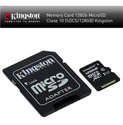 MICRO SD 128GB KINGSTON CL10 - SDCS/128GB (N)