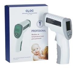 Termometro Laser A Distancia Humanos Infrarrojo Sin Contacto Fiebre CLOC SK-T008