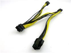 CABLE SPLITTER TRIPLE PCI-E 6PIN A 3 DE 8-PIN, 18AWG